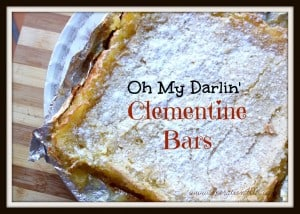 Oh My Darlin Clementine Bars