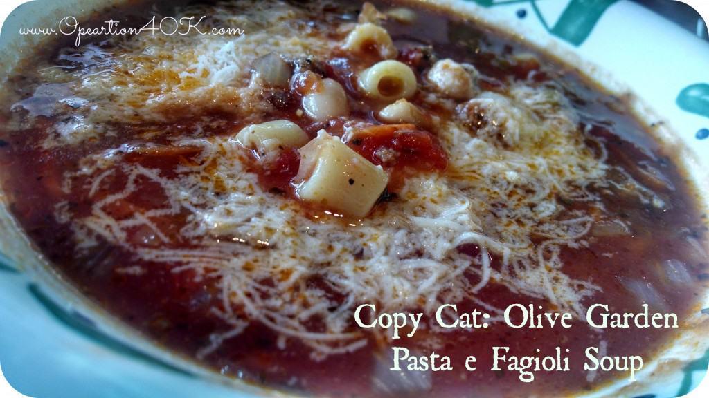 **Knockoff** Olive Garden Pasta e Fagoli Soup Recipe