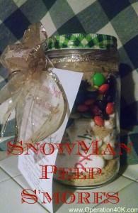 Snowman Peep Smores