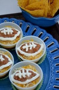 Gameday_recipe,_Football_Bean_Dip_Cups__photo_#4