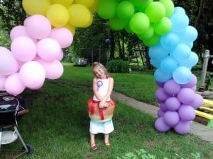 rainbow party ballons