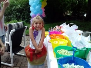 rainbow party birthday girl