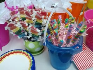 rainbow party candy