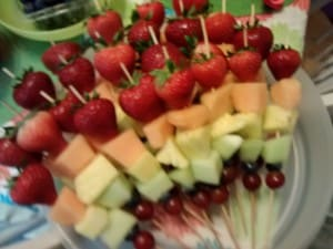 rainbow party fruit