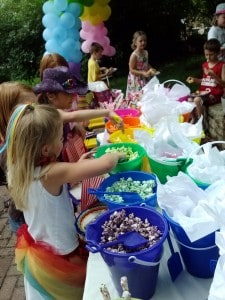 rainbow party kids fun