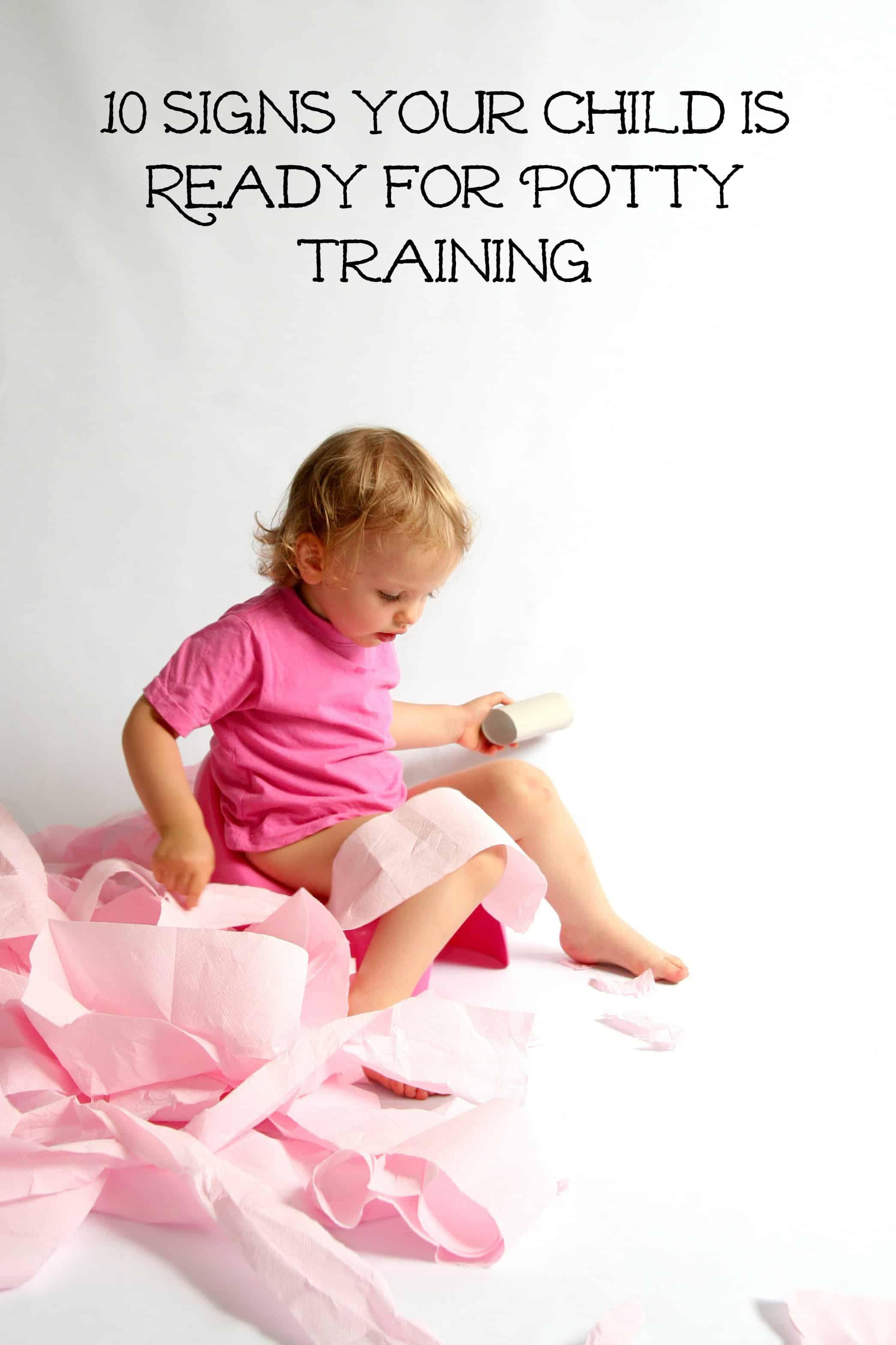 Signs that your child is ready to be potty trained