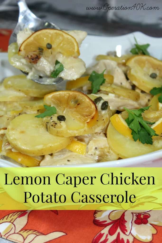 Lemon Caper Chicken Potato Casserole
