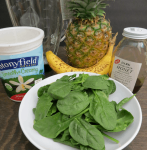 Green Pineapple Smoothie - Ingredients