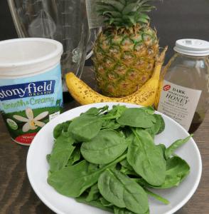 Green Pineapple Smoothie - Ingredients
