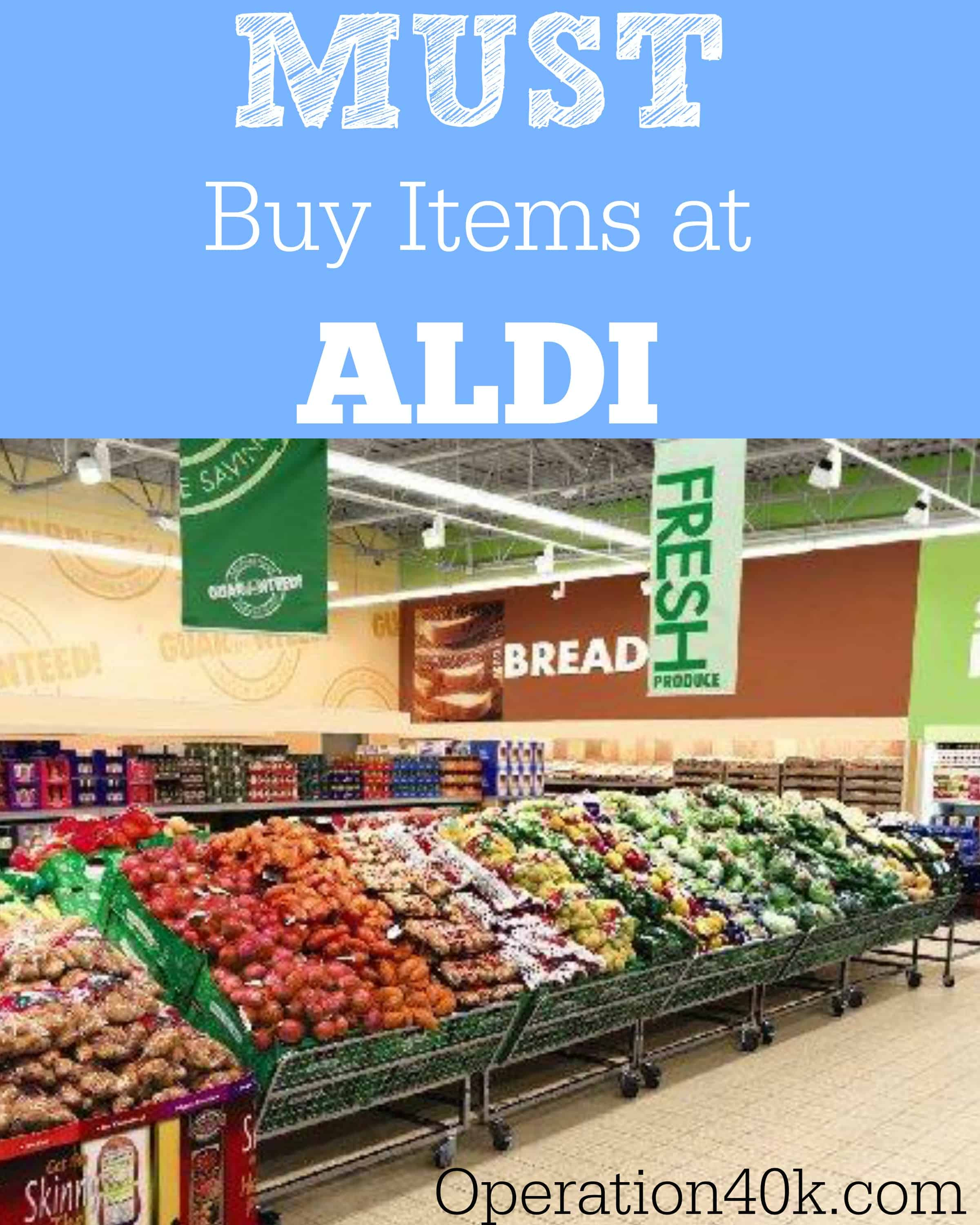 Must Buy Items at Aldi
