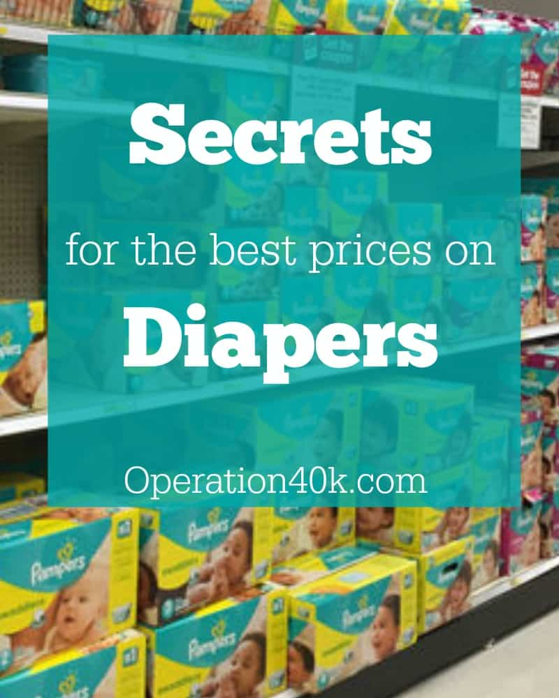 Secrets for Best Prices on Diapers Image