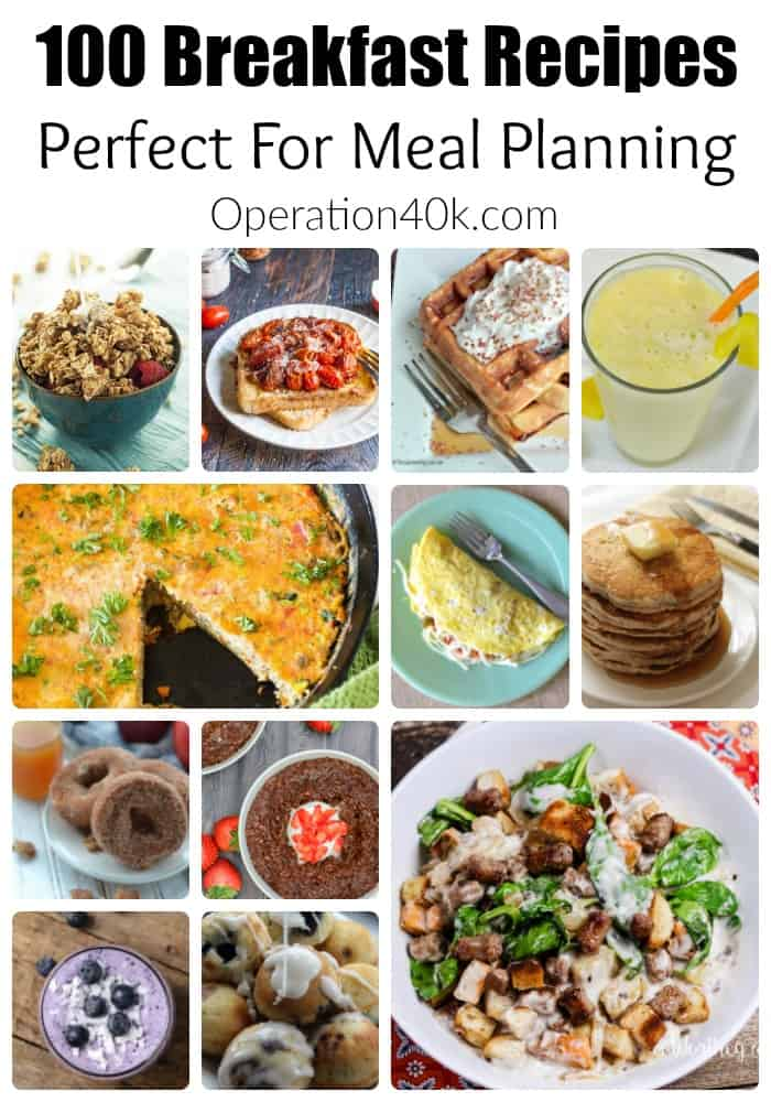 Don't miss our huge list of breakfast recipes! This list is ideal for meal planning and includes tons of great ideas your family will love!