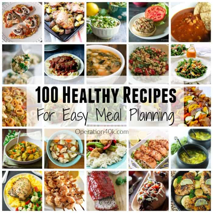 Healthy Recipes like these are ideal for menu planning!  Check out this easy to navigate list of all the best diet friendly recipes from our favorite bloggers!