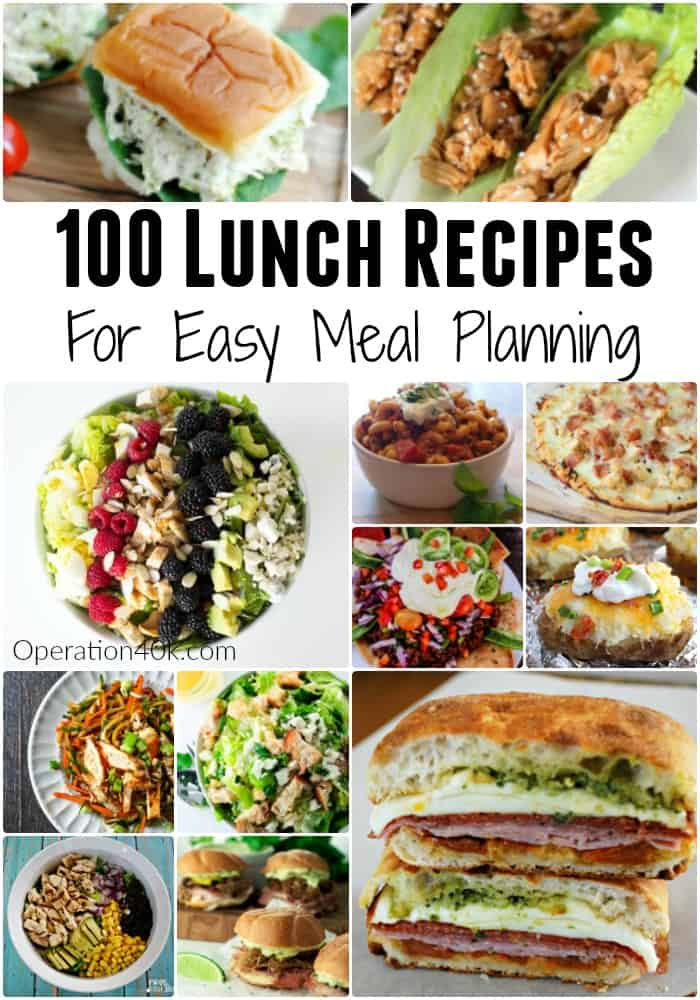 100 Lunch Recipes For Meal Planning