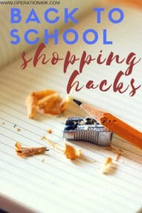 Back To School Shopping Hacks