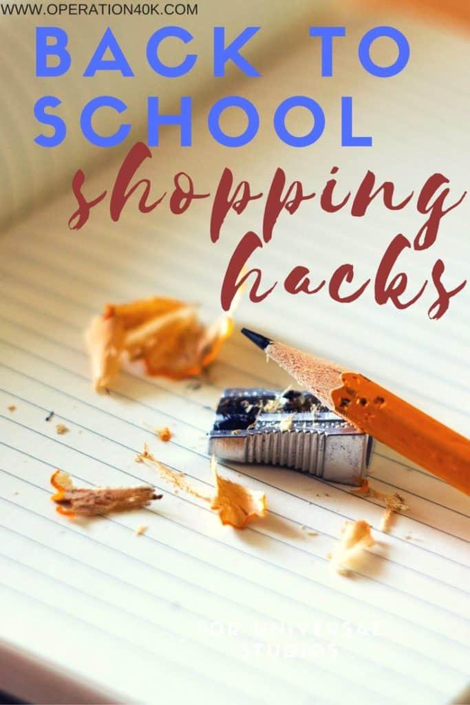 Back to School Shopping Hacks
