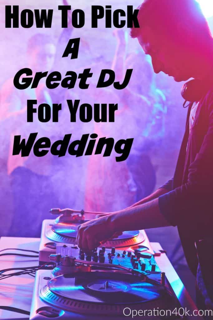 Knowing how to pick a great DJ for our Wedding is vital to the ultimate reception! Use our tips for how to pick a great DJ and have the ultimate summer wedding reception!
