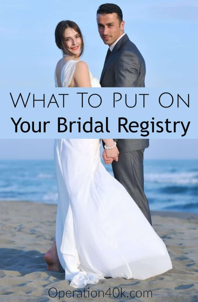 Check out our tips for what to put on your Bridal Registry for your upcoming wedding! Great wedding tips that anyone can use for a wonderful gift list!