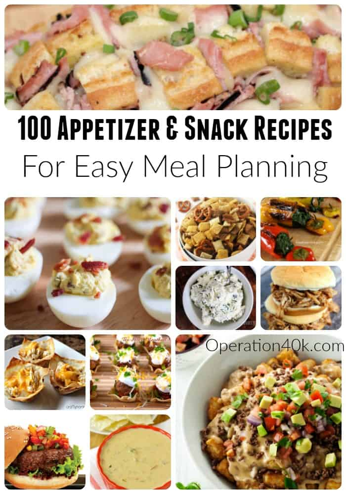 Meal Planning includes fun school snack recipes and even tasty appetizers for your weekend dinner party! Don't miss our list of 100 amazing recipes here!