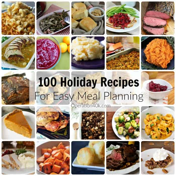 Don't miss our great holiday Meal Planning ideas with this amazing list of 100 Holiday Recipes!