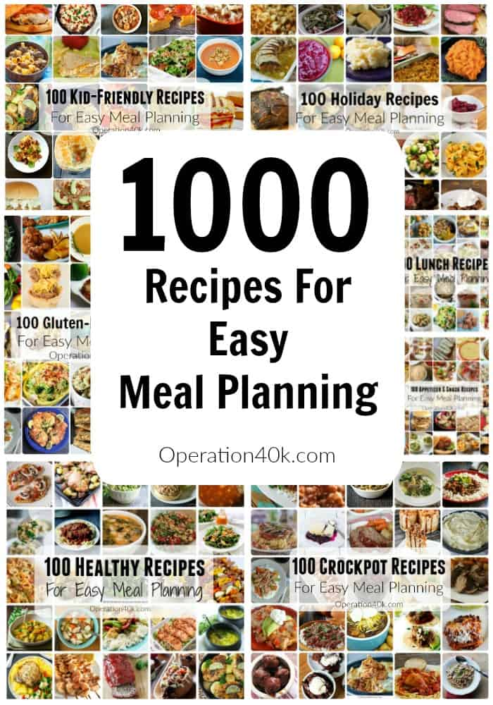 Meal Planning is easy when you utilize these great recipes with 1000 different choices to meet your dietary needs!