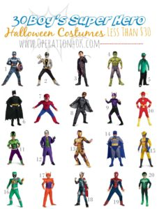9.18 Amazon Round Up - Super Hero Boy Costumes Under $30 OPERATION40K