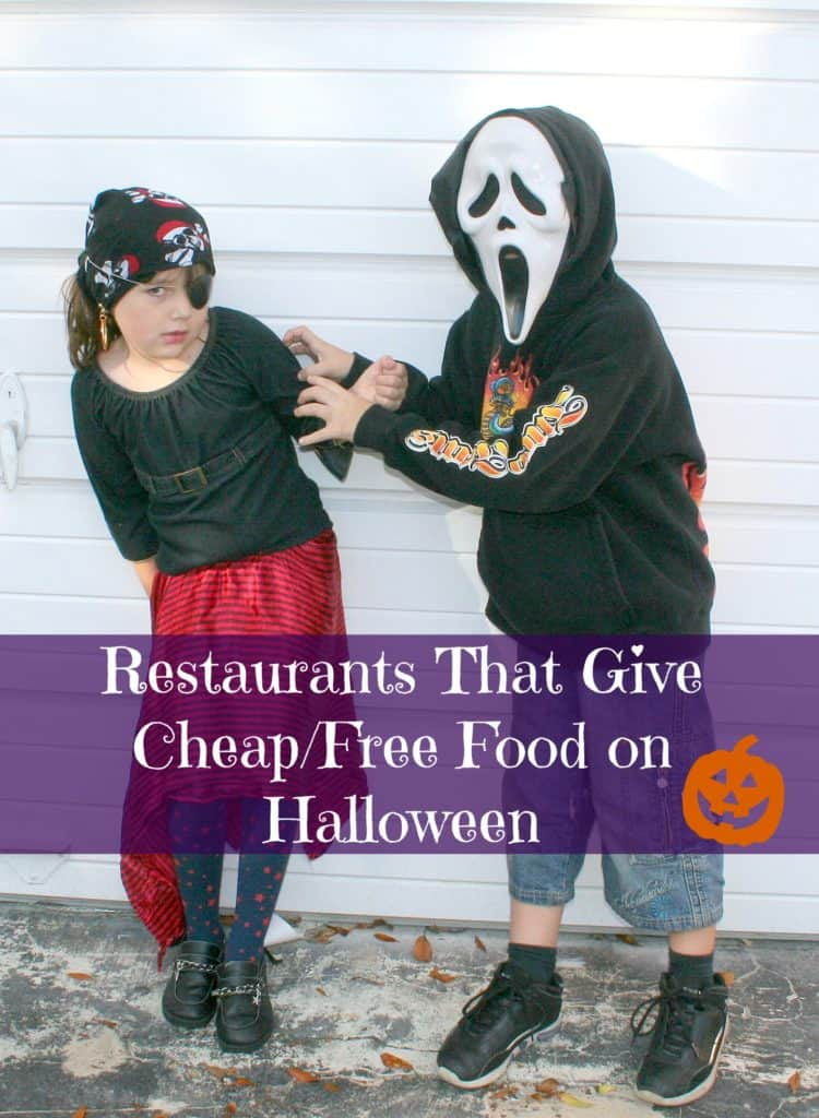 Restaurants That Offer Cheap/Free Food for Those Dressed Up on Halloween