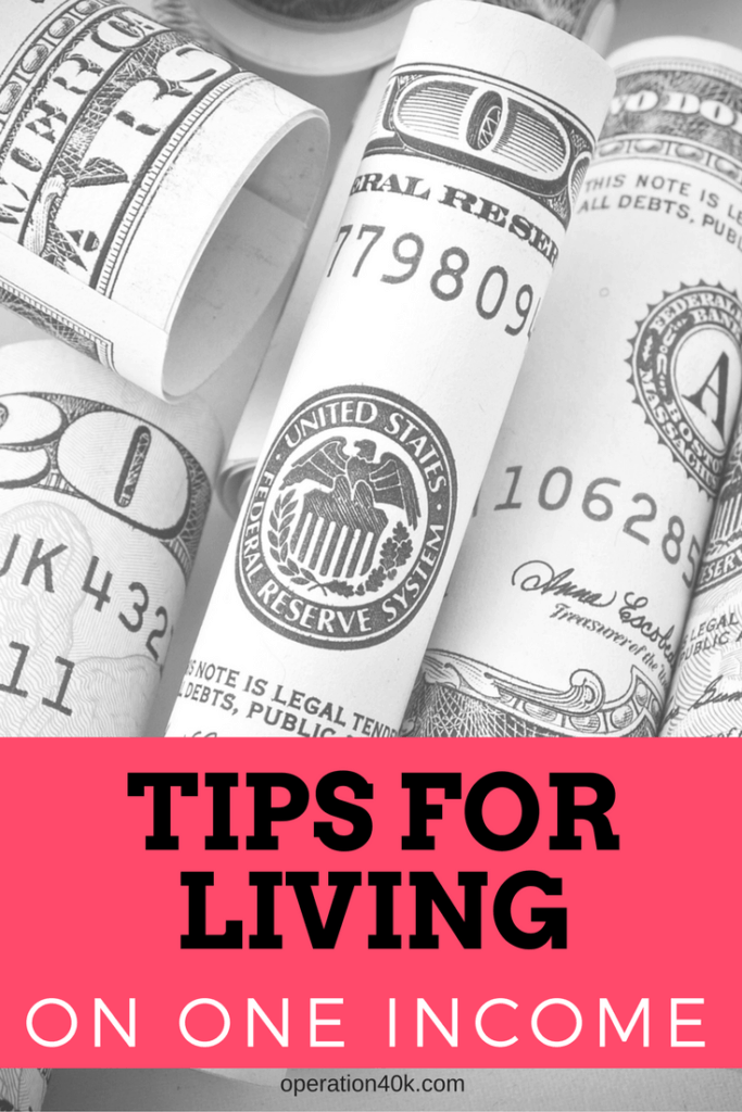 tips for living on one income -- any family can do it!
