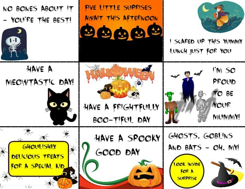halloweenlunchboxnotes