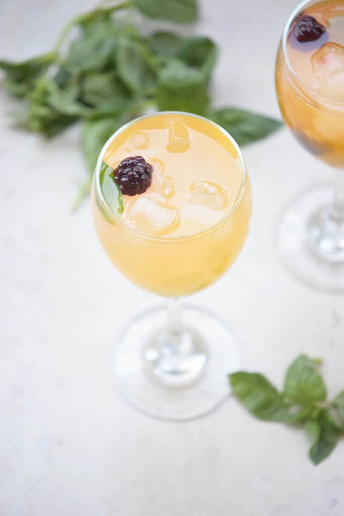 "Refreshing Pineapple Basil ""Mojito"""