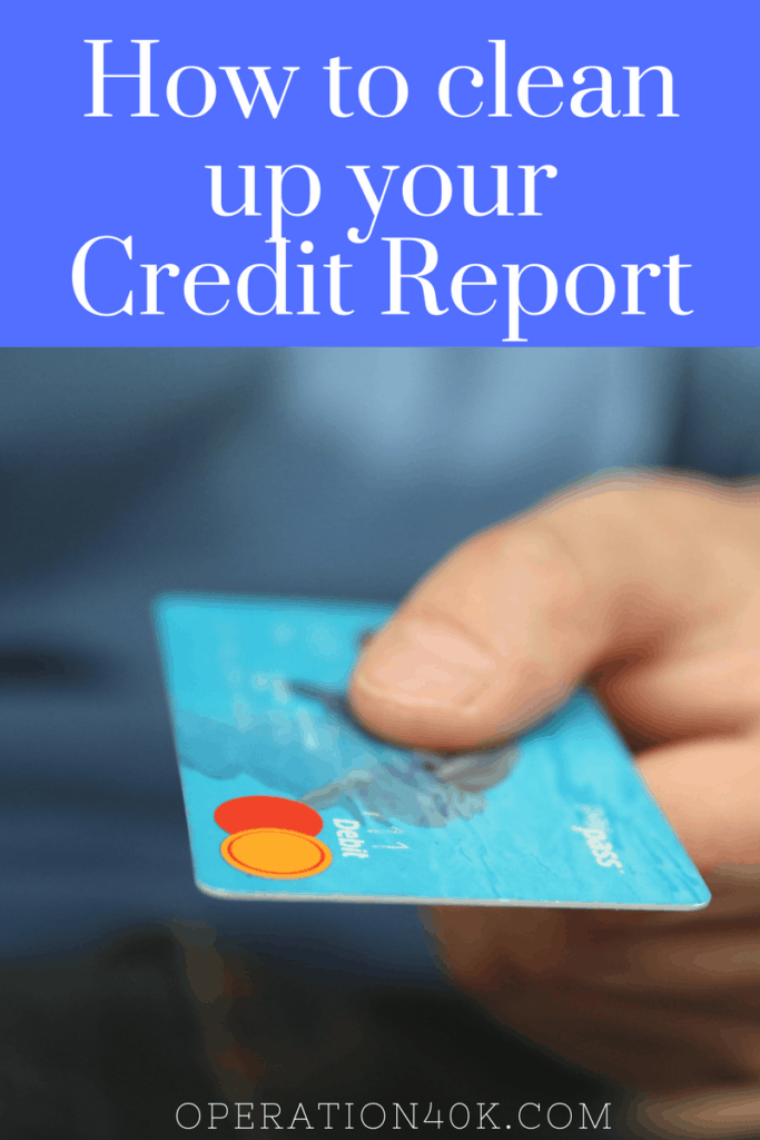 how to clean up your credit score yourself