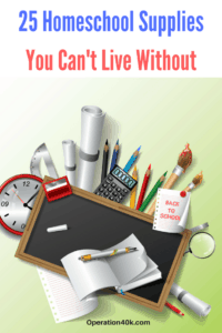 Check out our Top 25 Homeschool Supplies You Can't Live Without! This list includes all the best things to make homeschooling easier to manage!