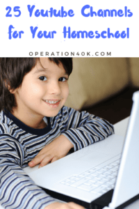 Don't miss our top 25 YouTube Channels For Your Homeschool! This list includes art, science, and more to help kids learn while having fun!