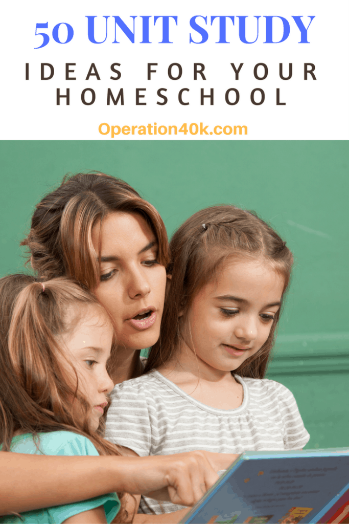 Unit Study Ideas: Grab this list of 50 Unit Study Ideas For Your Homeschool that are ideal for helping you to keep your kids happy and learning with ease!