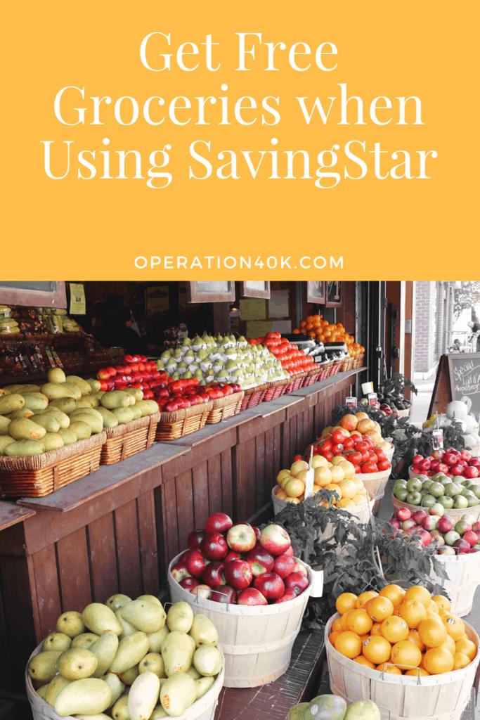 Get Free Groceries when Using SavingStar
