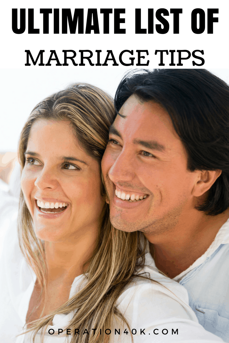 This Ultimate List of Marriage Tips is just what you need to renew and restore your marriage! Relationships are tough, but our tips make it easy to manage!