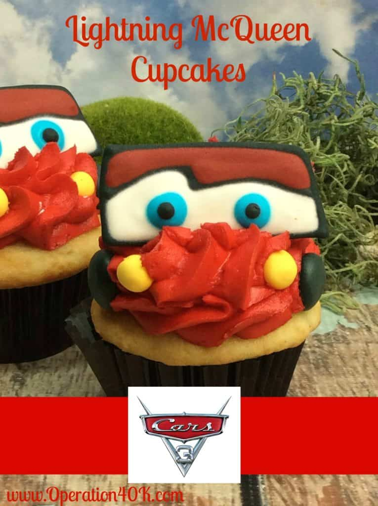 lightning mcqueen cupcake recipe