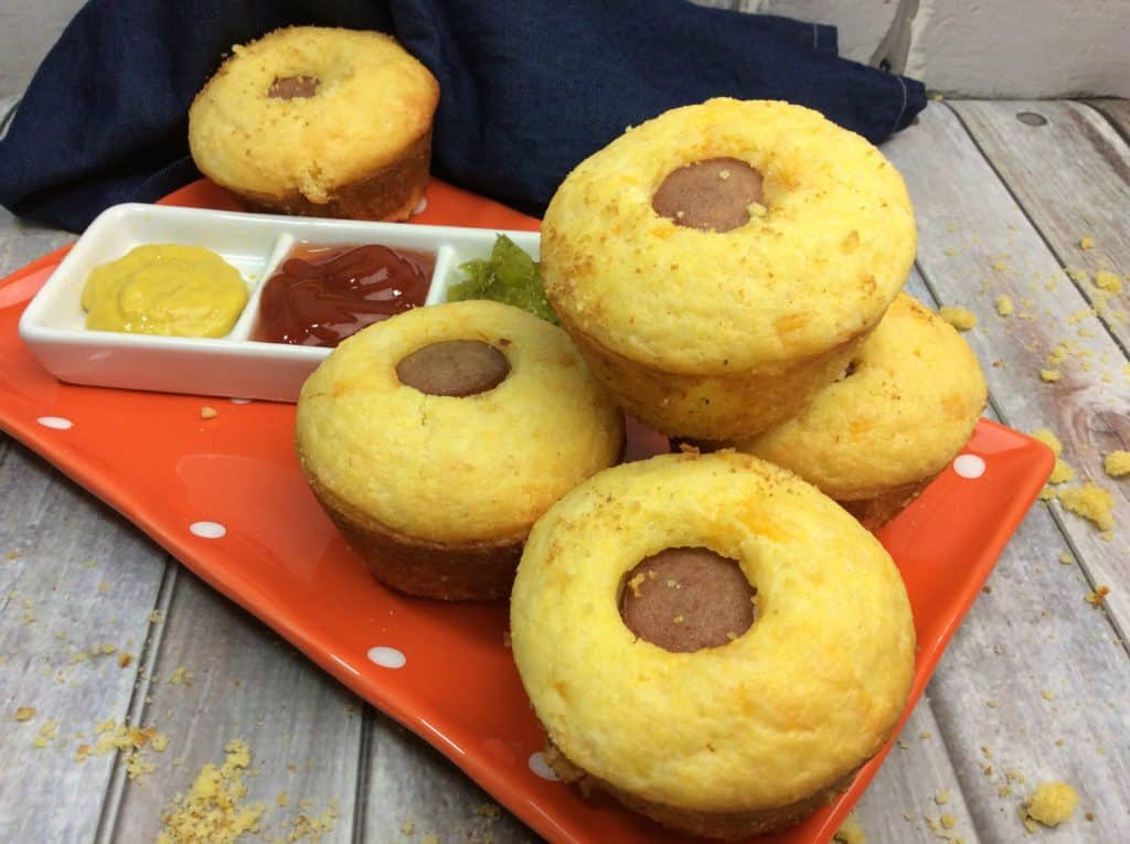 Cheddar Cornbread Dogs For the Lunchbox