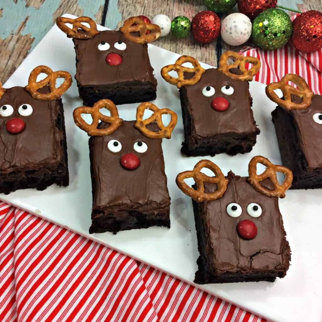 Santa's Favorite Reindeer Brownies