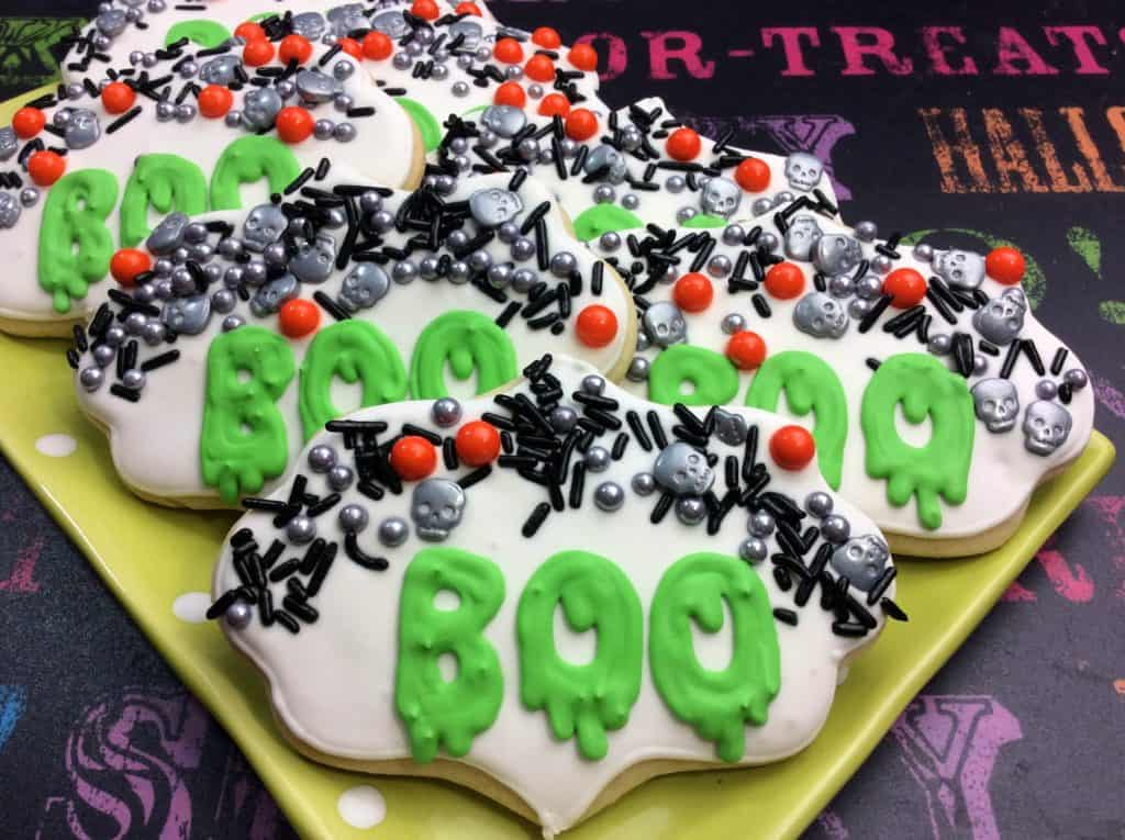 Frightfully Delicious Boo Sugar Cookies