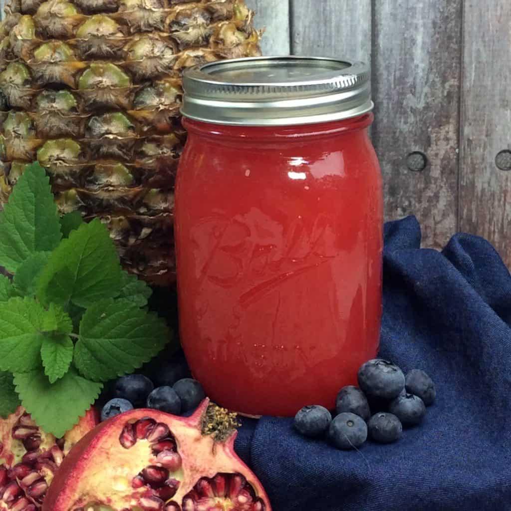 Pineapple Pomegranate Blueberry Moonshine