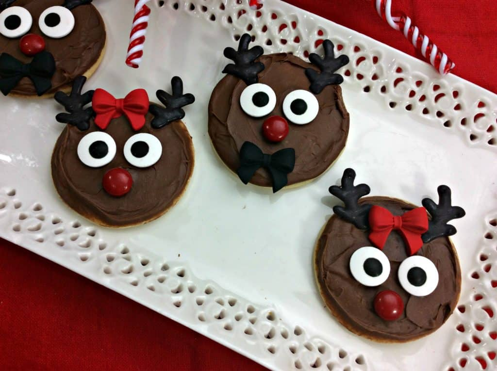 Totally Delish Reindeer Sugar Cookies