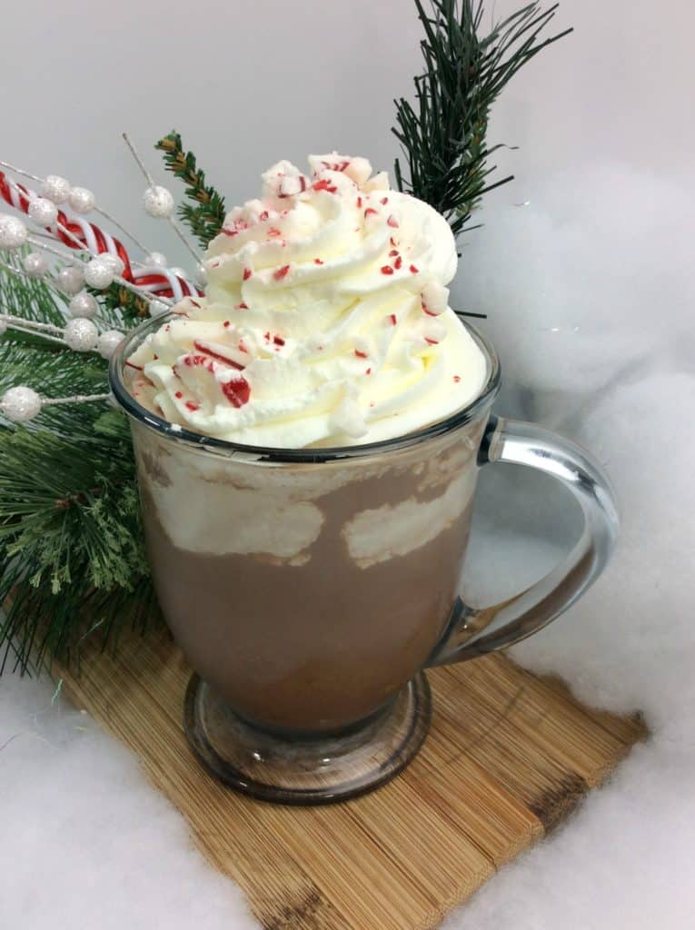 Candy Cane Spiced Latte Cocktail