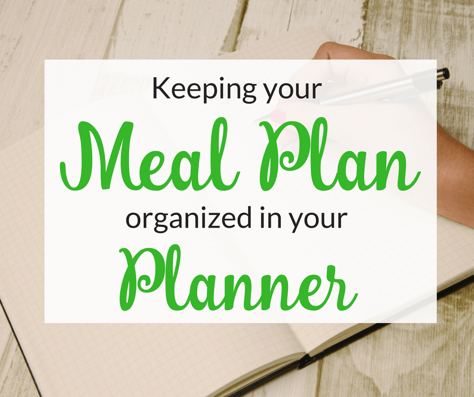 How to Keep Your Meal Planning Organized in Your Planner