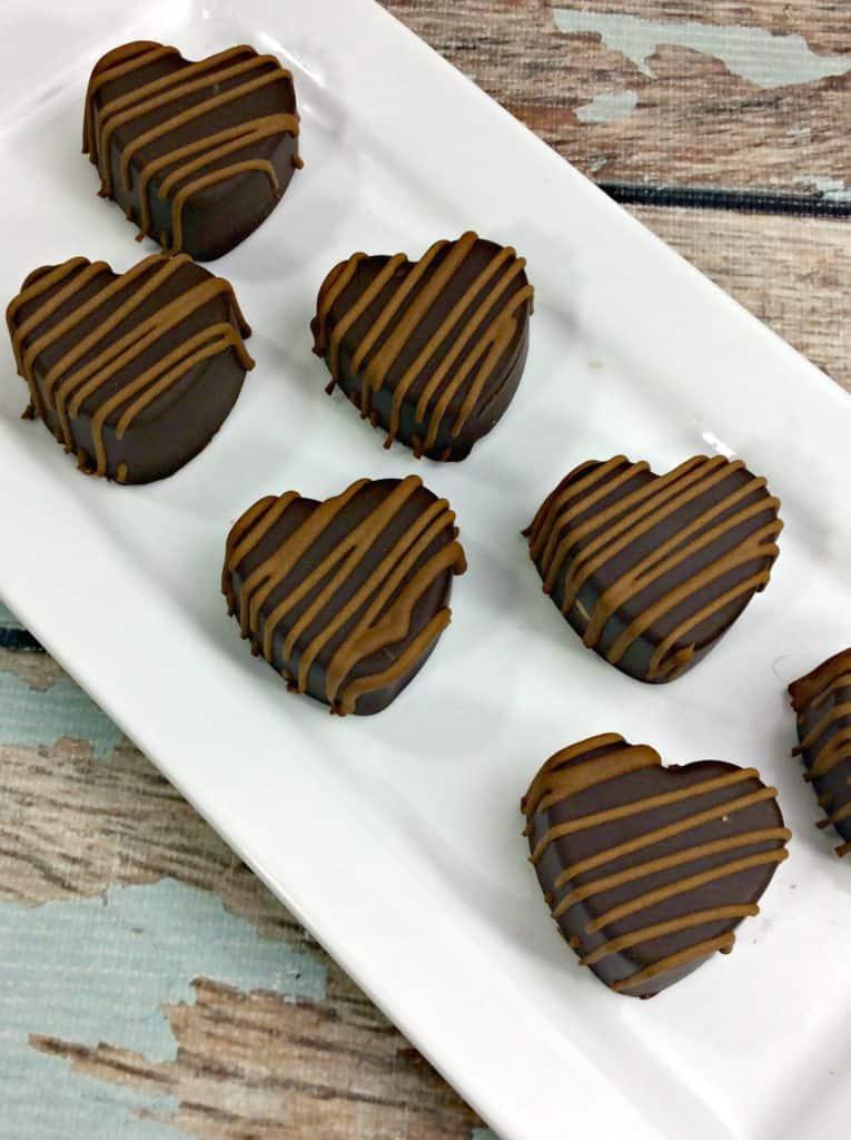 Peanut Butter Heart Truffles