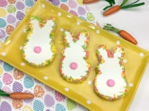 Whimsical Bunny Sprinkle Sugar Cookies