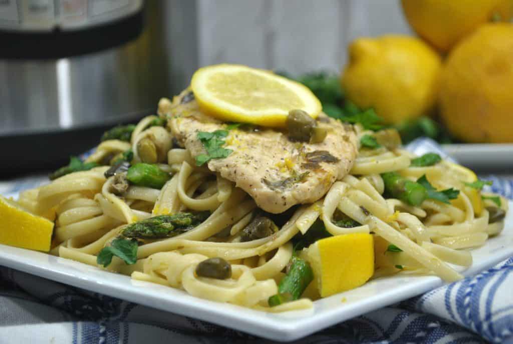 Instant Pot Lemon Chicken Piccata And Asparagus