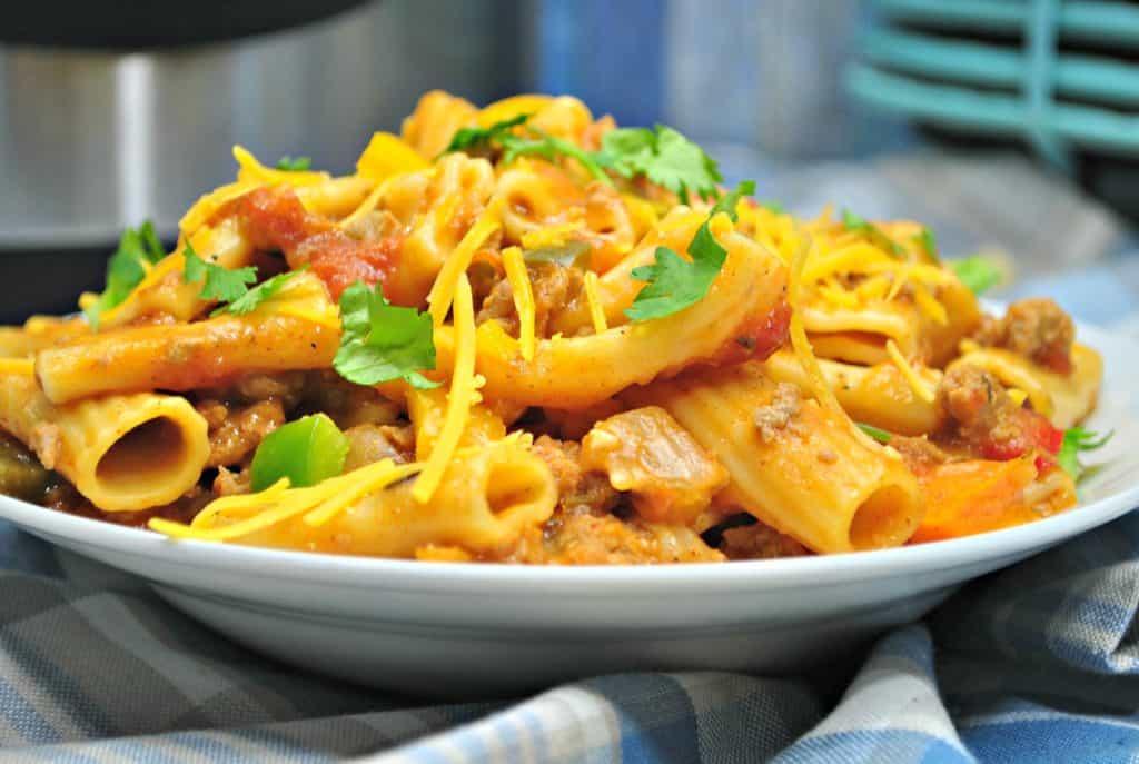 Easy Peasy Instant Pot Mexican Pasta