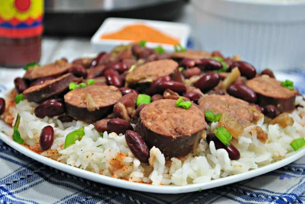 Instant Pot Red Beans and Rice Dinner