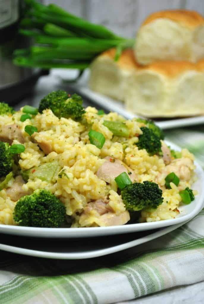 Instant Pot Chicken Broccoli and Rice Bake